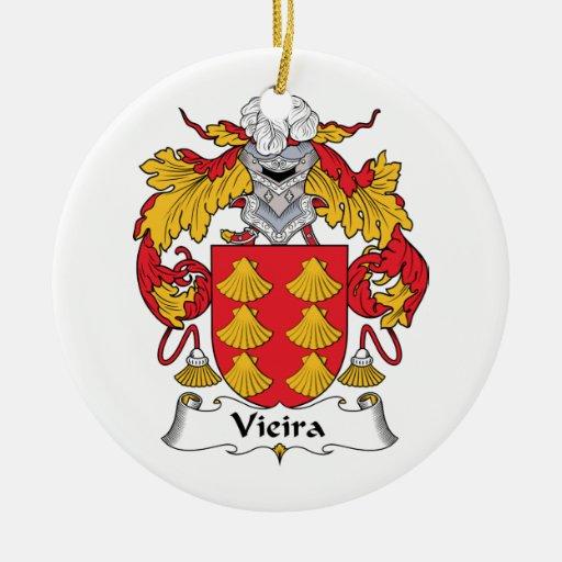 Escudo de la familia de Vieira Ornamento Para Reyes Magos