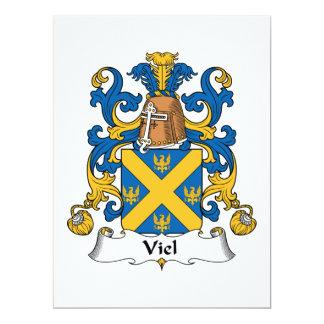 """Escudo de la familia de Viel Invitación 6.5"""" X 8.75"""""""