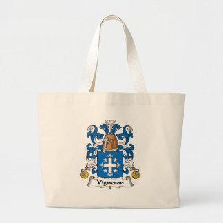 Escudo de la familia de Vigneron Bolsas De Mano