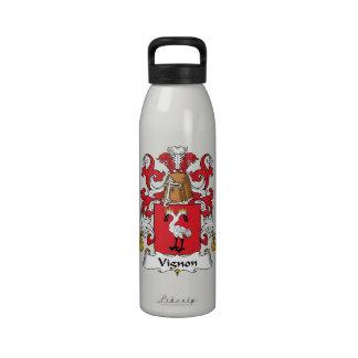 Escudo de la familia de Vignon Botellas De Beber