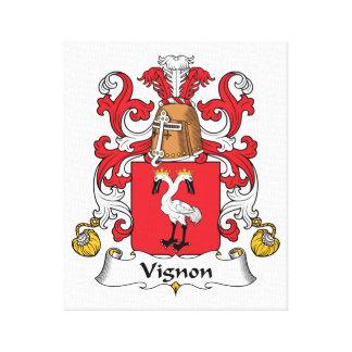 Escudo de la familia de Vignon Impresion De Lienzo