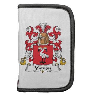 Escudo de la familia de Vignon Organizador