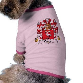 Escudo de la familia de Vignon Ropa Perro