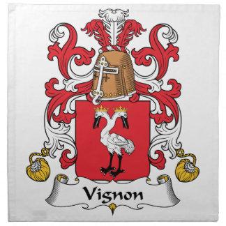 Escudo de la familia de Vignon Servilleta
