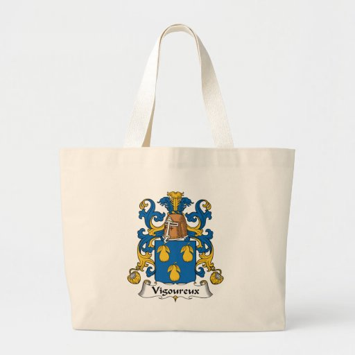 Escudo de la familia de Vigoureux Bolsa Lienzo