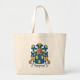 Escudo de la familia de Vigoureux Bolsa Tela Grande