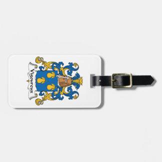 Escudo de la familia de Vigoureux Etiquetas Maletas