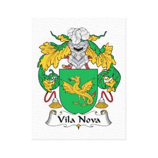 Escudo de la familia de Vila Nova Impresión En Lienzo