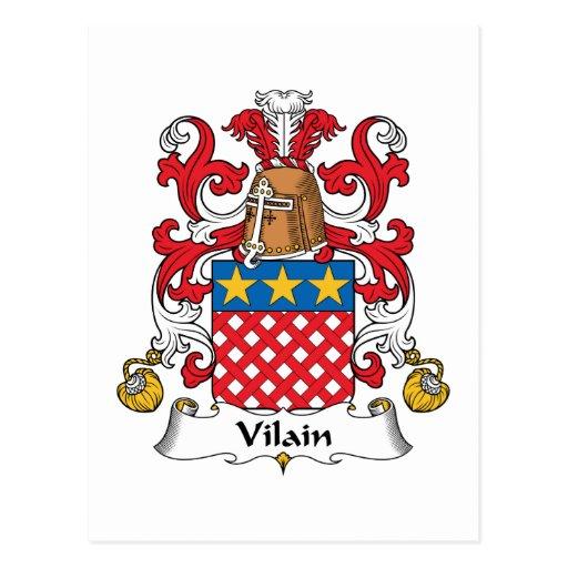Escudo de la familia de Vilain Postal