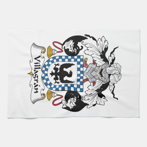 Escudo de la familia de Villagran Toallas