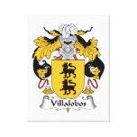 Escudo de la familia de Villalobos Impresión De Lienzo