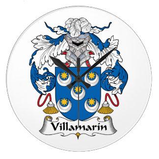 Escudo de la familia de Villamarin Reloj Redondo Grande