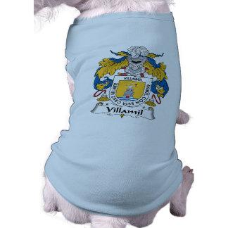 Escudo de la familia de Villamil Camisa De Mascota