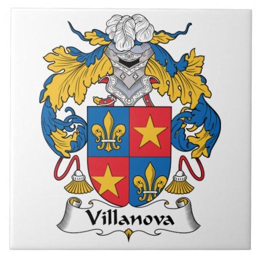 Escudo de la familia de Villanova Tejas Cerámicas