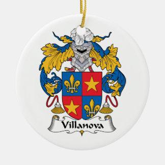 Escudo de la familia de Villanova Adorno Redondo De Cerámica