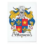 Escudo de la familia de Villanueva Invitación 12,7 X 17,8 Cm