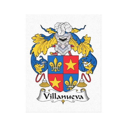 Escudo de la familia de Villanueva Impresión En Lona Estirada