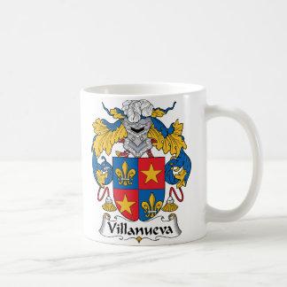 Escudo de la familia de Villanueva Taza Básica Blanca