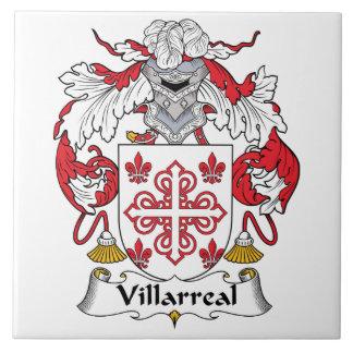 Escudo de la familia de Villarreal Azulejo Cuadrado Grande