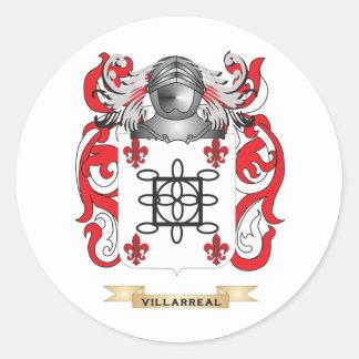 Escudo de la familia de Villarreal (escudo de Pegatina Redonda