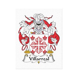 Escudo de la familia de Villarreal Impresión En Lienzo