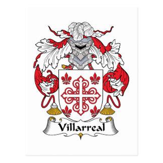 Escudo de la familia de Villarreal Tarjeta Postal