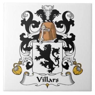 Escudo de la familia de Villars Azulejo Cuadrado Grande