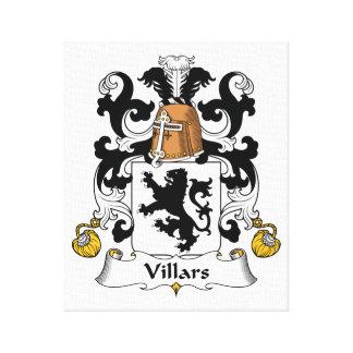 Escudo de la familia de Villars Impresión De Lienzo