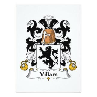 """Escudo de la familia de Villars Invitación 6.5"""" X 8.75"""""""
