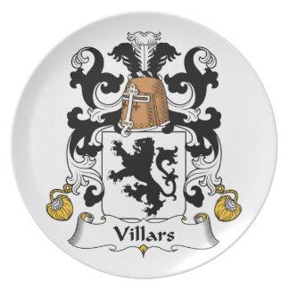 Escudo de la familia de Villars Plato