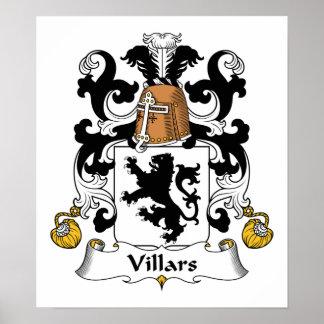 Escudo de la familia de Villars Póster