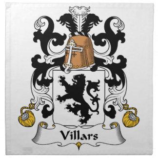 Escudo de la familia de Villars Servilleta Imprimida