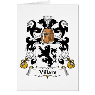 Escudo de la familia de Villars Tarjeta De Felicitación