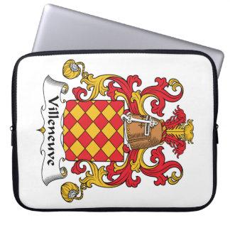 Escudo de la familia de Villeneuve Mangas Portátiles
