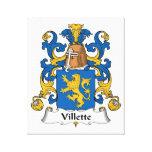 Escudo de la familia de Villette Lona Envuelta Para Galerías
