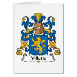 Escudo de la familia de Villette Tarjetas