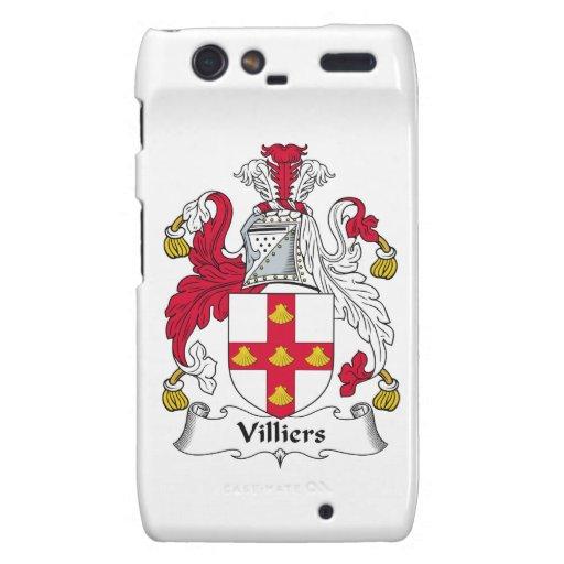 Escudo de la familia de Villiers Droid RAZR Funda