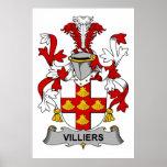 Escudo de la familia de Villiers Poster