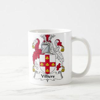 Escudo de la familia de Villiers Tazas