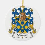 Escudo de la familia de Vincent Ornaments Para Arbol De Navidad