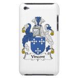 Escudo de la familia de Vincent iPod Touch Case-Mate Carcasas