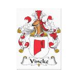 Escudo de la familia de Vincke Impresión En Lona