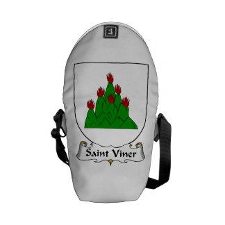 Escudo de la familia de Viner del santo Bolsa De Mensajería