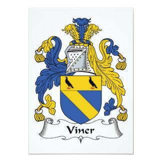 """Escudo de la familia de Viner Invitación 5"""" X 7"""""""