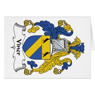 Escudo de la familia de Viner Tarjeta De Felicitación