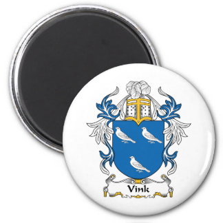 Escudo de la familia de Vink Imán Redondo 5 Cm