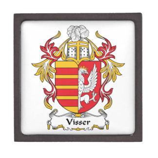 Escudo de la familia de Visser Cajas De Joyas De Calidad