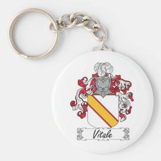Escudo de la familia de Vitale Llaveros Personalizados