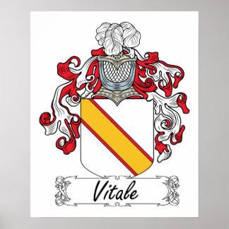 Escudo de la familia de Vitale Posters