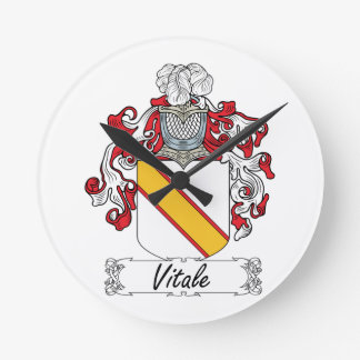 Escudo de la familia de Vitale Relojes De Pared